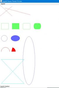 Program to Demo Color Class In Paint() Method