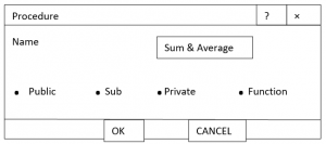 event procedure to find sum and average