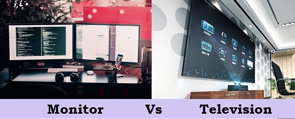 Difference between Monitor and Television